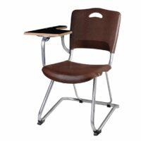 صندلی دانشجویی فایبرگلاس تک نفره رنگ قهوه ای بدون سبد و قلاب شیدکو