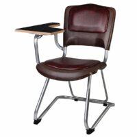 صندلی دانشجویی شیدکو بدون سبد و قلاب رنگ چرم قهوه ای
