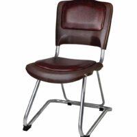 صندلی دانشجویی و محصلی بدون سبد و دسته شیدکو رنگ چرم قهوه ای