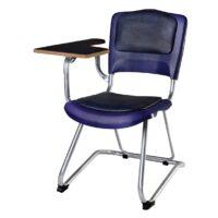 صندلی دانشجویی شیدکو بدون سبد و قلاب چرم سرمه ای