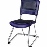 صندلی دانشجویی شیدکو بدون سبد و دسته چرم سرمه ای